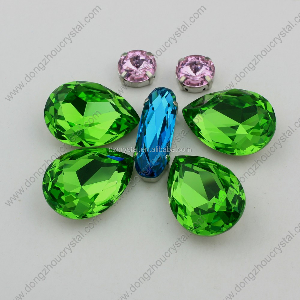 Fancy glass stones tear drop crystal rhinestone