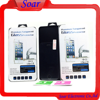 Mobile phone accessories 0.33mm real transparent high glass protector screen guard for iPhone 4G/4S/5G/5S/6G/6 plus