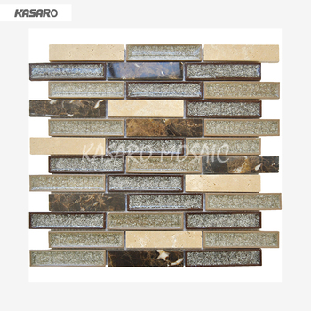 New Home Decor Crackle Mixed Stone Ceramic Mosaic