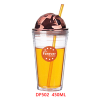 Wholesale high quality insulated small tumblers with straw lid