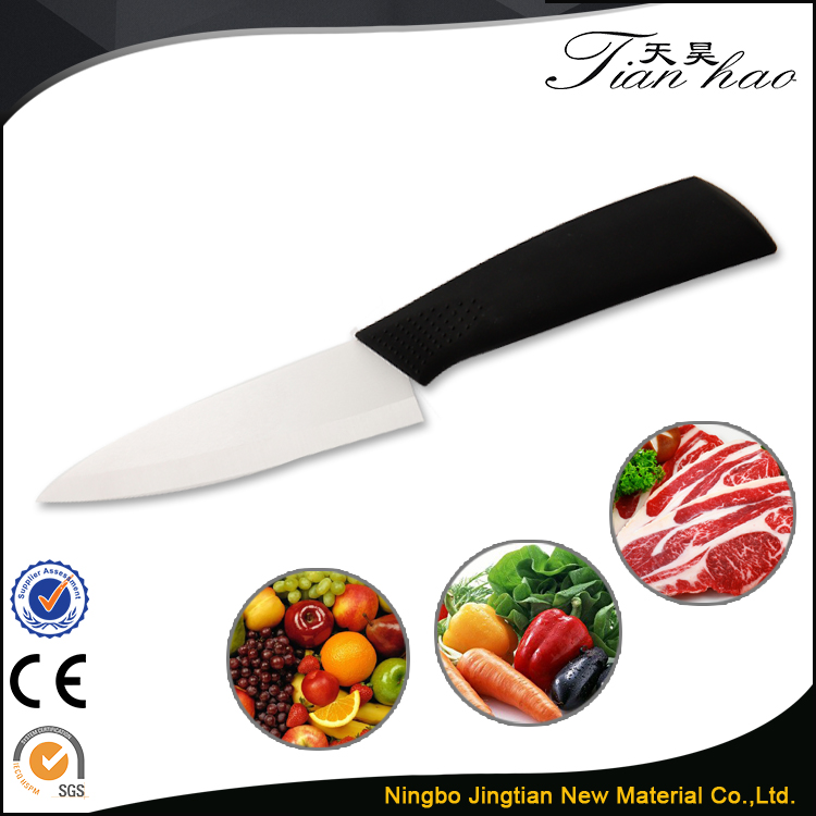 "5"" Slicing High Quality White Kitchen Chopping Vegetable Ceramic Knife Sharper"