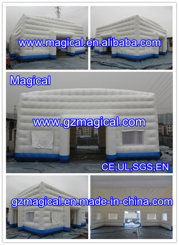 double layer inflatable cube tent/ structure tent