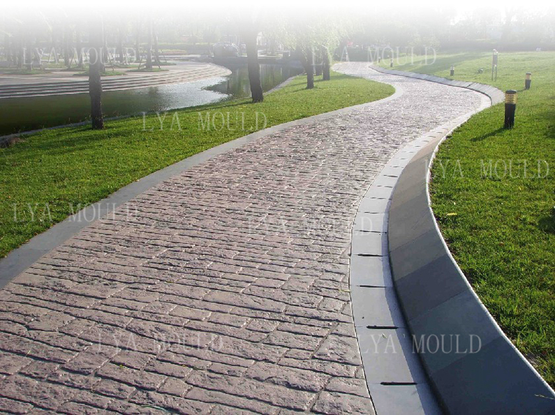 Stamped Rubber Flooring : Rubber stamped concrete mats wall stamp moulds