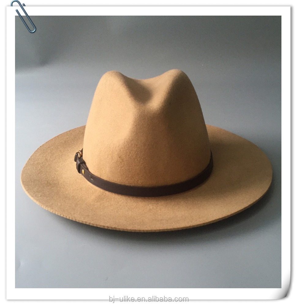Coustomize Man 100% Wool Felt Panama hat Wholesale Fedora Felt Hat