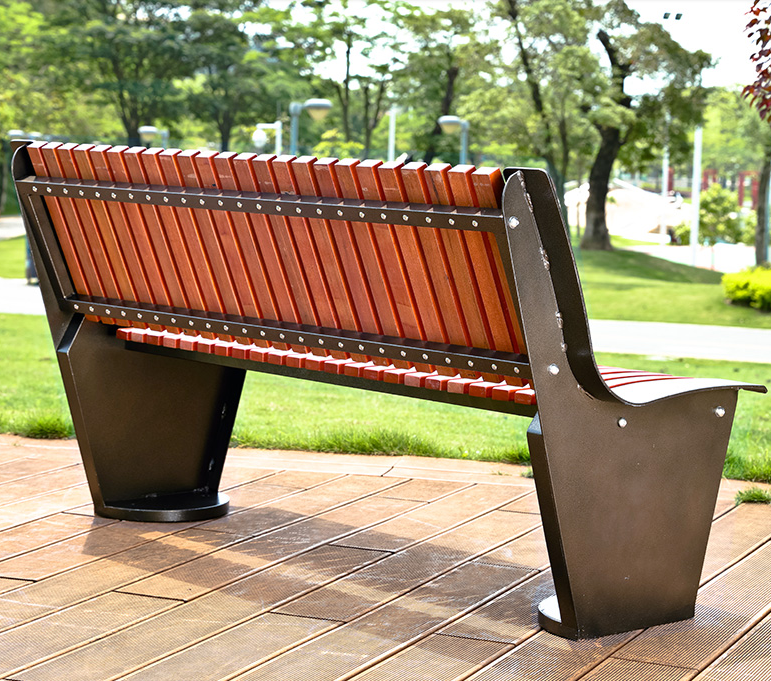 long plastic opened resting wooden decorative outdoor benches