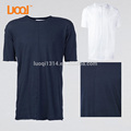 Luoqi Factory oem Printed T Shirt Sleeve Blue O neck 100%cotton Long Line Oversize Plain Men's T Shirts