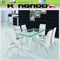large 8 seater 6 seater 4 seater bend glass top dining table