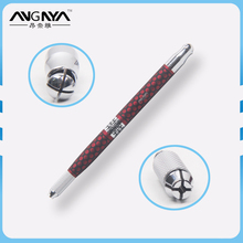 ANGNYA Aristocratic Red Polka Dot Metal Handle Manual Tattoo Pen Needle