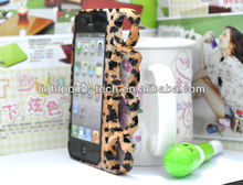 Leopard pattern frame bumper case for iphone 5G bumper mobile phone ring cases