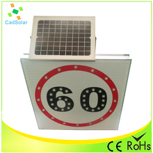 anti high temperature outdoor solar powered China led speed limit traffic signs