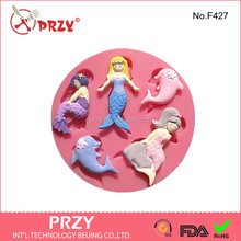 Mermaid silicon moulds cake decorating , famous cake decorators