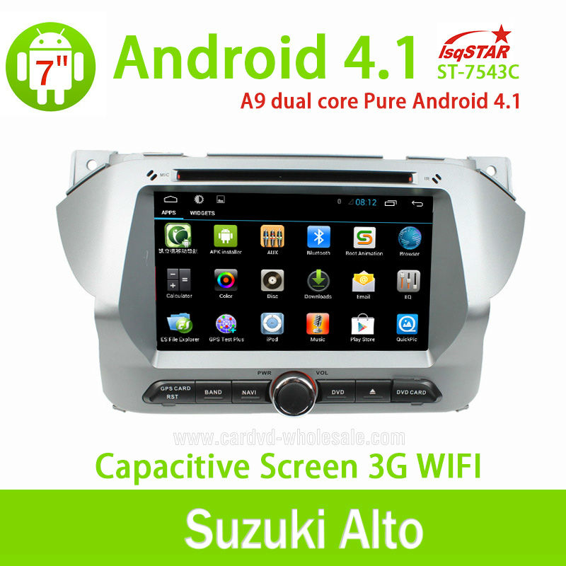 LSQ Star wholesales Capacitive Android Suzuki Alto Car DVD Radio GPS Navigation with OBD 3G WiFi Multi-touch CPU 1.5GHZ ROM 8G