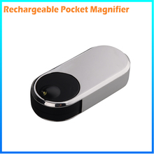 DH-83016 Manufacturer High Quality Rechargeable Foldable Pocket Square Magnifying Glass Led Light With Flashlight