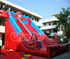 Channal Design Red Inflatable Climbing Spiderman Slide for Rental Commercial Use