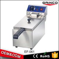 hotel kitchen equipment Stainless Steel electric deep pressure fryer single tank EF-061