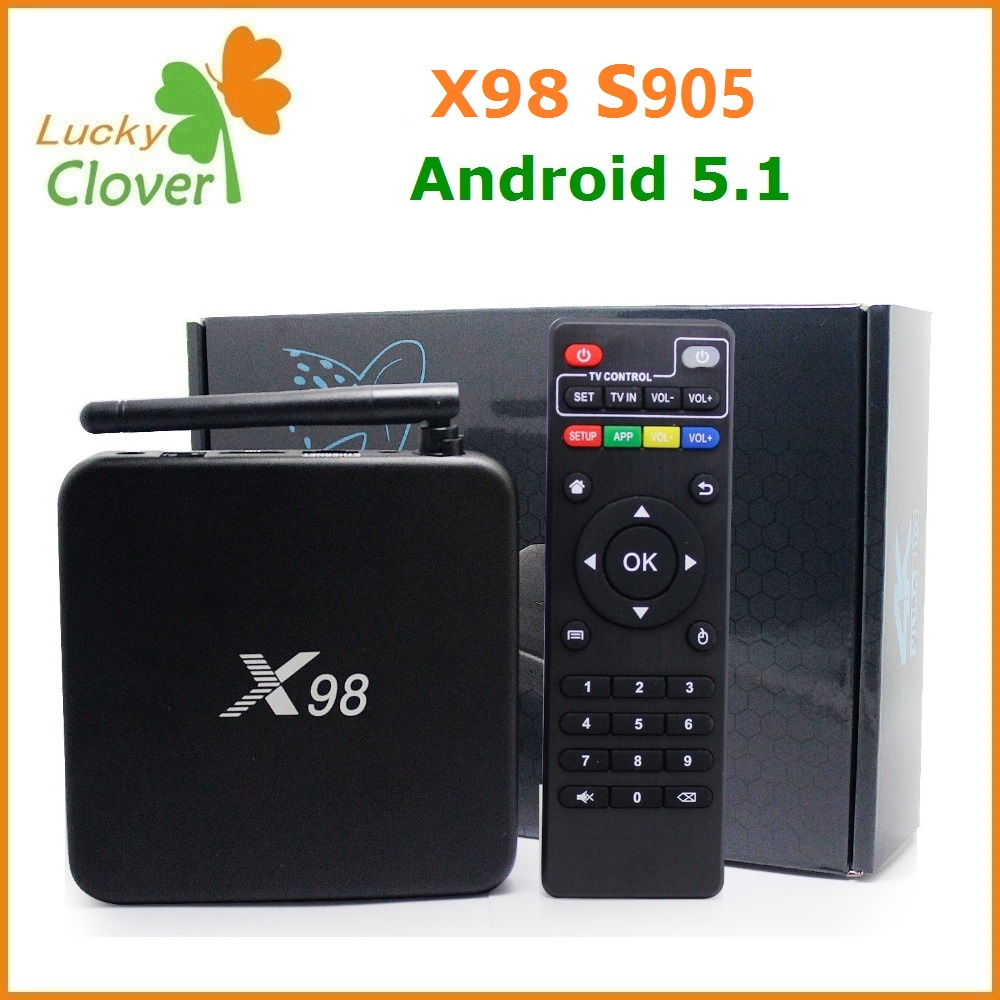 smart tv box android X98 android 5.1 OS 16G EMMC flash amlogic S905 quad core bluetooth 4.1 android box