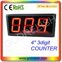"High 4"" Brightness 3digital red 7 segment led number call system restaurant led digital number display"