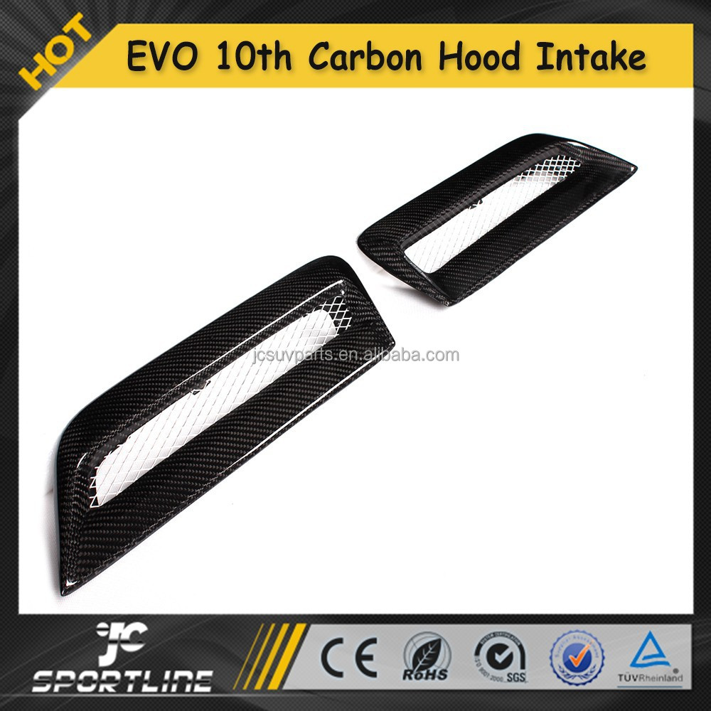 EVO10 Carbon Fiber Air intake , Auto Car Hood Air Vent Covers for Mitsubishi EVO 10