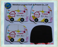car shaped souvenir fridge magnet/personalized fridge magnets/fridge magnet notebook