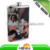 2016 hot stainless steel sex russia girls hip flask for men
