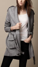 Merino Wool Multistitch Wrap Cardigan for lady