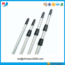 Single/double section aluminum telescopic pole for cleaning