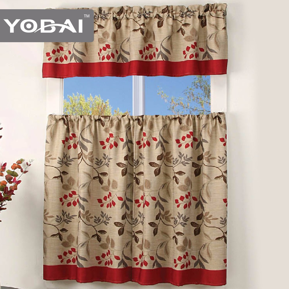 100%Polyester Ready Made Chinese Kitchen Curtains