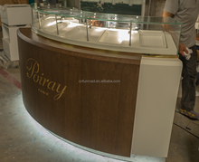 Mall Wholesale Wooden Glass Watch Display Showcase