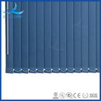 Various colors of fabric covered vertical blinds for living room