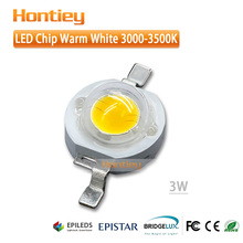 Epistar 3000-3500K warm white light 45mil high power LED chip 3W light emitting diode used in floor lamp/staircase lamp
