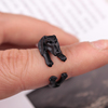wholesale cute dog black color animal ring