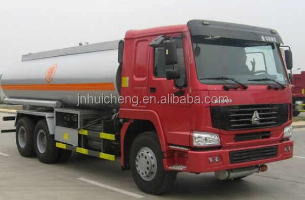New Sinotruk Howo Euro2 10 wheeler 15cbm 6*4 chemical fuel tanker truck dimensions 12.00-20 tire low price for sale