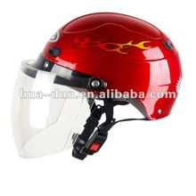 HD lady use light weight high quality half face motorcycle helmet for scooter