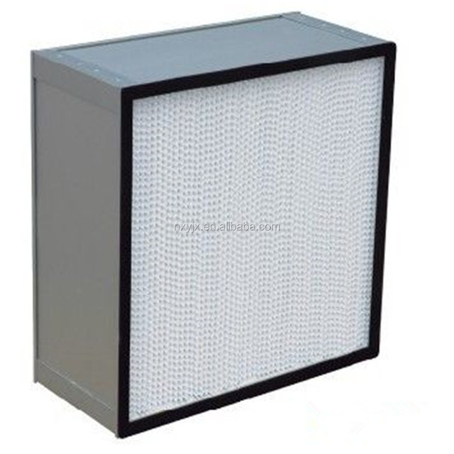 aluminium frame paper pleat Air Filter For Third Stage