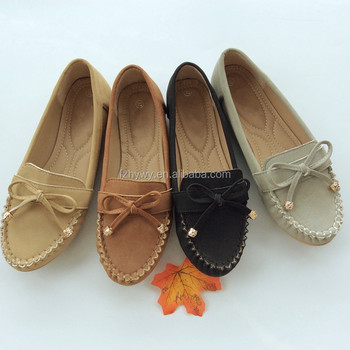 new casual gommino women shoes with bow 2018