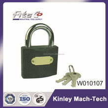Factory Price Grey Iron Padlock With Brass Key Cylinder And Master Key