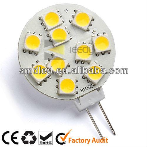 2013 NEW super bright 12V 1.7W 10SMD5050 led bulbs