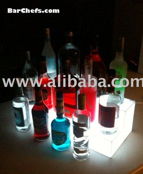 2 Tier Glowing Bottle Display