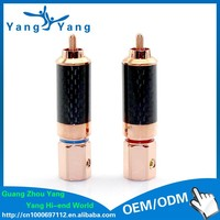 YangYnag carbon fiber red copper plated rca jack