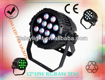 Outdoor Waterproof PAR RGBAW 5-IN-1 LED 10w*12pcs Event Stage Light