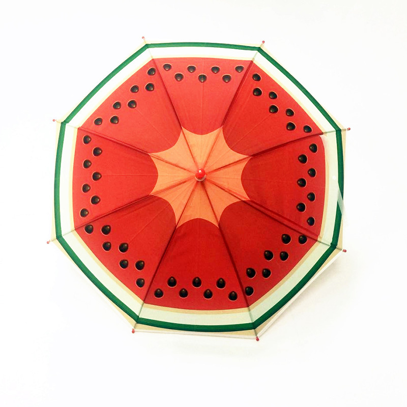 Cute Fruit Children Umbrella Creative Long-handled Manually Kids Umbrella For Boys Girls