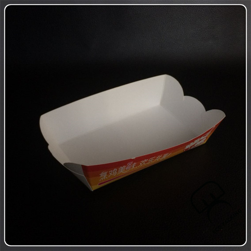 Paper boat tray paper food tray boat shape box
