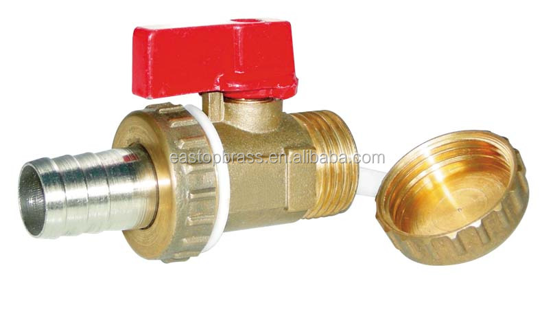 High Quality Brass gas Ball Valve supplier with handle brass color