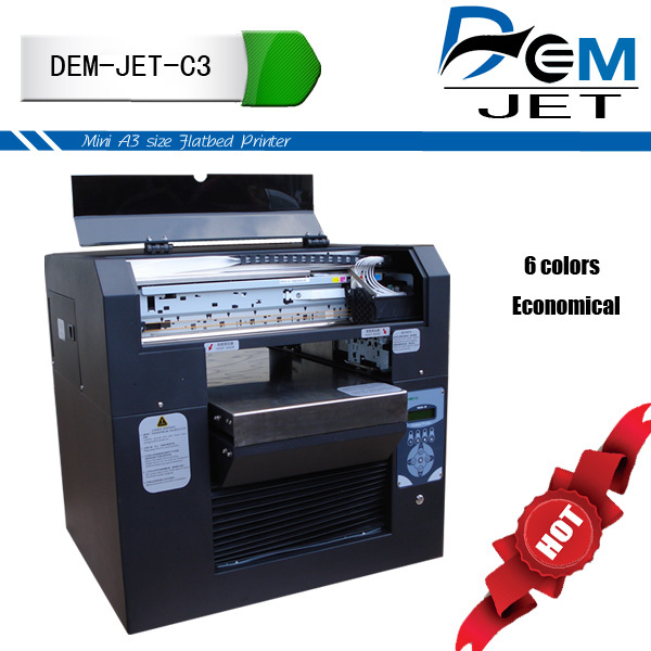 Factory price inkjet flatbed a3 digital printer glass
