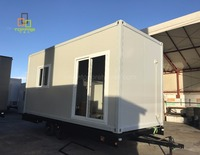 Tiny house trailer conteiner 20ft prefabricated container house for trade