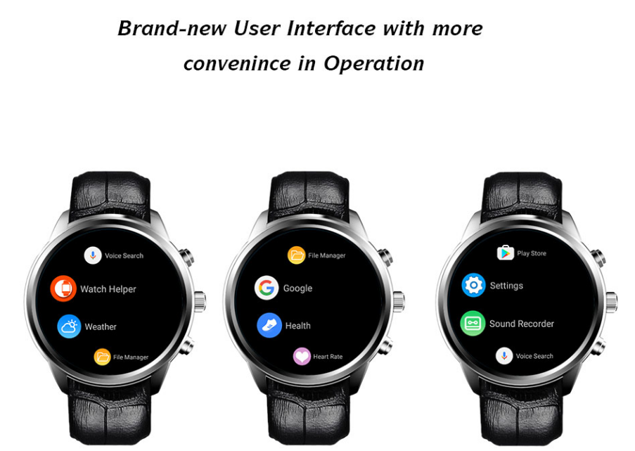 "1.4"" AMOLED Android WiFi Bluetooth Ram 2GB Rom 16GB MTK6580 Quad Core Smart Watch phone"