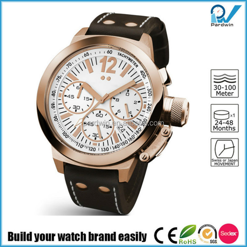 Build your watch brand easily man stainless steel hand watch outdoor sport