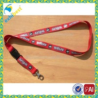 Customized Silk Screen Print Nylon Lanyard
