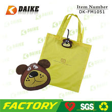 OEM Canvas Folding Dog Shape Shopping Bag DK-FM1051