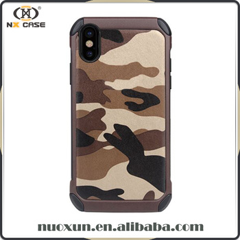 Newest China manufacturer camouflage bumper mobile phone case for iphone 8 case